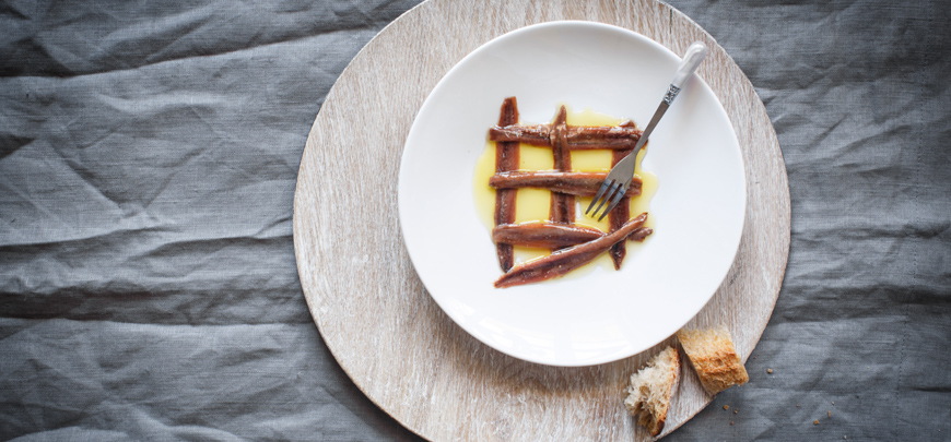 Anchovies from the Cantabrian Sea
