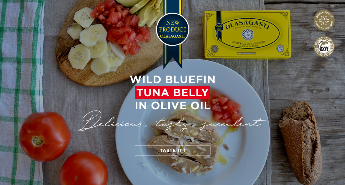 Wild bluefin tuna belly in olive oil